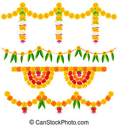 Colorful Flower Decoration Arrangement - illustration of ...