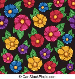 Colorful flower seamless background pattern