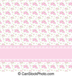 Colorful Flower Seamless Pattern Background with Ornate...