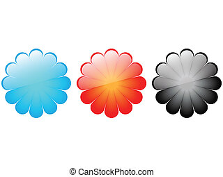 colorful flowers buttons