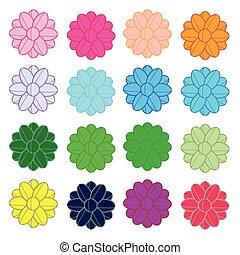 Colorful flowers line vector
