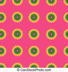 Colorful flowers pattern print background design