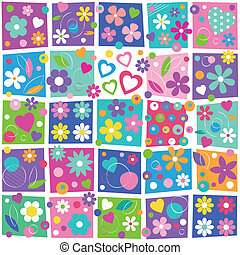 colorful flowery pattern