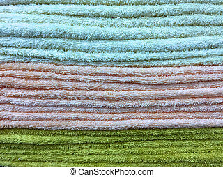 Colorful Fluffy Towels Stacking