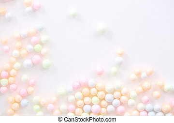 Colorful Foam ball isolated in white background