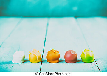 Colorful Fondant Candies