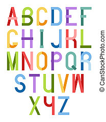 Colorful font