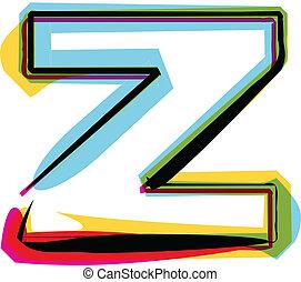 Colorful font. Vector illustration