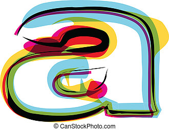 Colorful font. Vector illustration