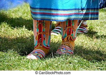 Colorful Footwear - beautiful Native American footwear