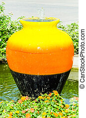 Fountain - Colorful Fountain jar