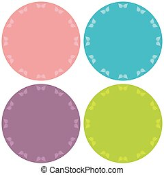 Colorful four blank stickers set.