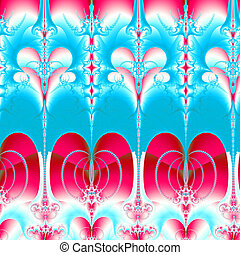 Colorful Fractal Background.