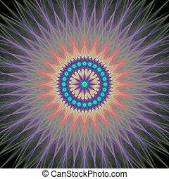 Colorful fractal design background vector