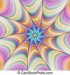 Colorful fractal digital art background design - Colorful...