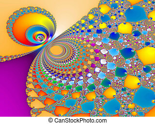 Colorful fractal - Digital visualization of a colourful ...