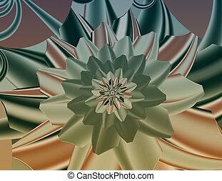 Colorful fractal image.