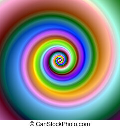 Colorful fractal swirl.