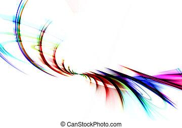 Colorful Fractal Swirls Rainbow