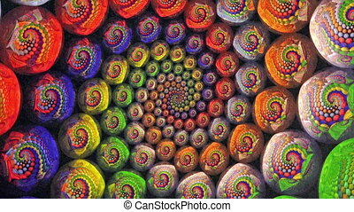 Colorful Fractal Universe Funnel