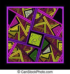 Colorful Fractala Square