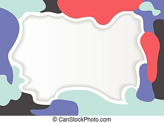 colorful frame abstract pattern