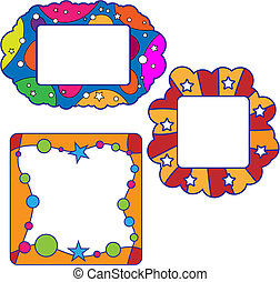 Colorful frame collection