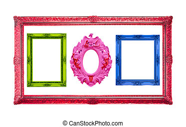 colorful frame  isolated with clipping path