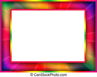 Colorful Frame - Bright motley colorful photo frame with...
