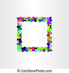 colorful frame vector design background box
