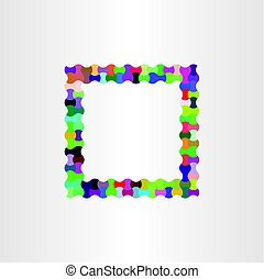 colorful frame vector design background box