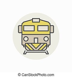Colorful freight train icon