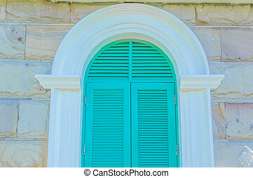 Colorful French style windows.