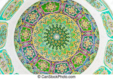 Colorful circular fresco