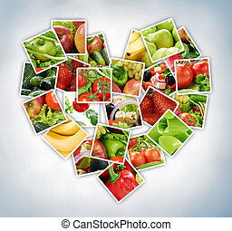 fruits and vegetables - colorful fresh fruits and vegetables
