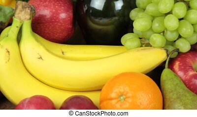 Colorful fresh fruits close up image