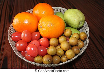 Colorful Fresh Group Of fruits