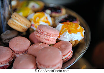 Colorful fresh makarons Cake