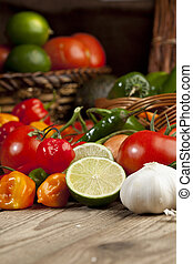 colorful fresh mexican vegetables