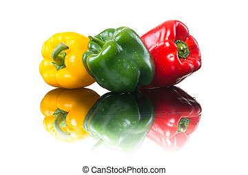 Colorful fresh peppers