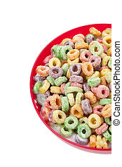 colorful fruit cereal