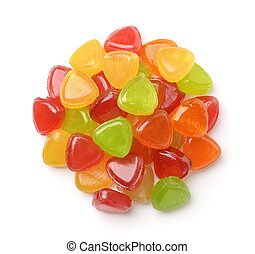 Colorful fruit hard candies