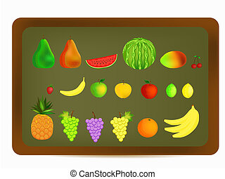 colorful fruit illustration