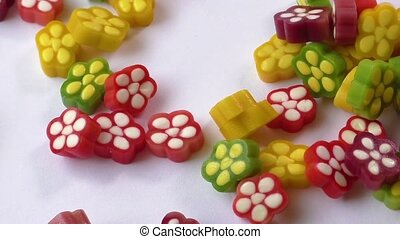 Colorful fruit jelly candy - Assortment of colorful fruit...
