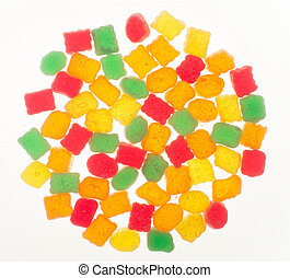 colorful fruit jelly