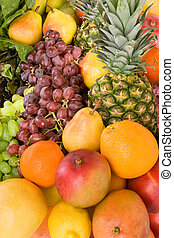 This is a display of colorful fruits