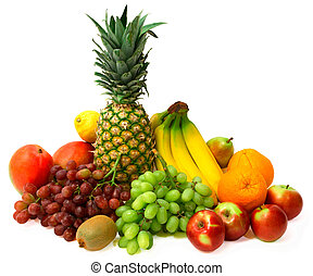 This is a display of fruits