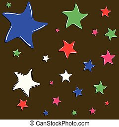 colorful funky stars