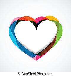 funky vector heart