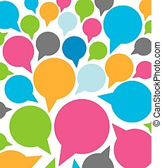 colorful funny speech bubbles